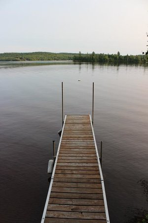 Hay Lake Lodge and Cottages: private dock