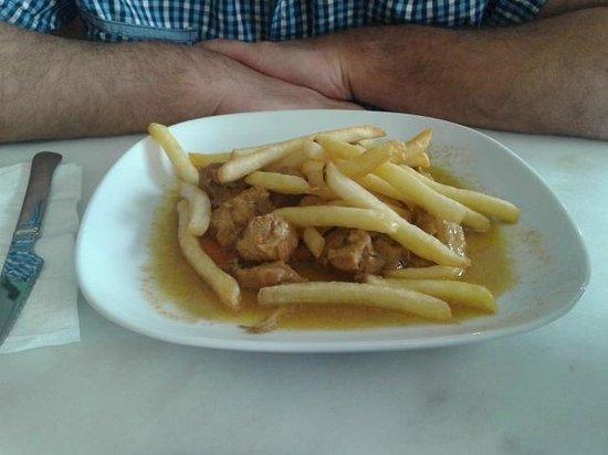 Bodega Taberna Rafae : Menú del día - Carne al Jerez