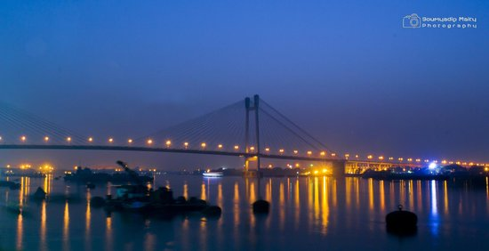 Second Hooghly Bridge: EVening view from Princepghat