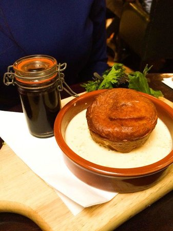 The Bank on College Green: The goat cheese soufflé