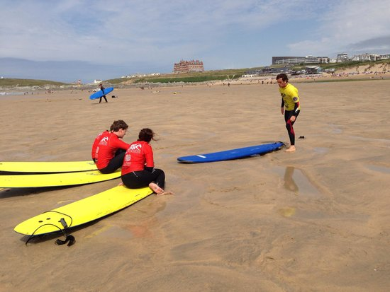 Newquay Activity Centre: The start of a great surfing afternoon!
