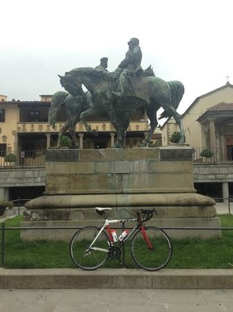 Florence by Bike: A brief stop after a great climb to Fiesole.