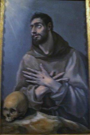 Museo Lazaro Galdiano: グレコ,アッシジの聖フランシスコ
