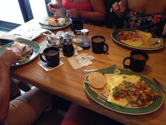 Breakfast at Applebee's.