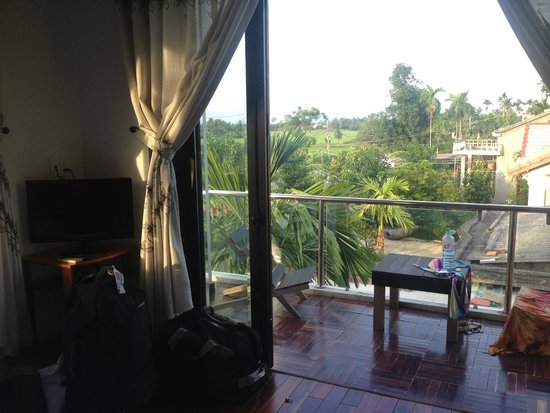 Gia Field Homestay: View with balcony