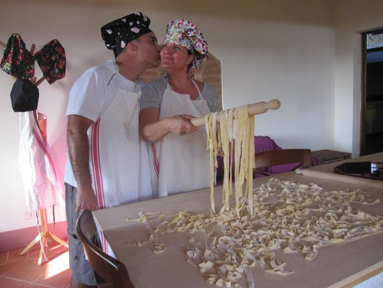 Cooking Classes with Nonna Ciana : Helping to dry out