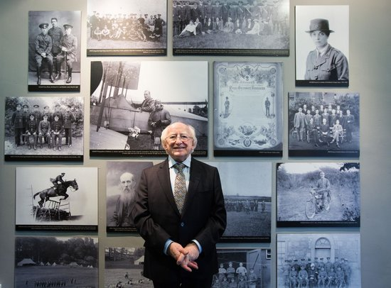 President of Ireland Michael D Higgins visiting the Limerick Museum (Feb 2014)