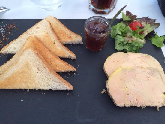 Brasserie du Roc: Foie gras du menu à 17€ Délicieux !