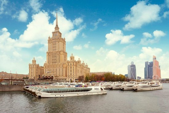 Radisson Royal Hotel Moscow: View on Radisson Royal Hotel, Moscow and Flotilla Radisson Royal