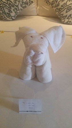The Breezes Bali Resort & Spa: Cute towel elephant my room service person left. Made my day :)
