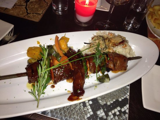 City Grill: Kebob of South African meats!