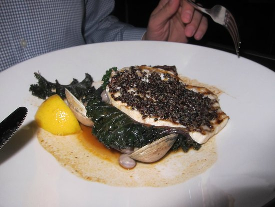 Grilled swordfish with clams, Cafe Sydney