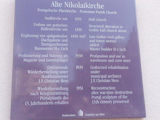 Alte Nikolaikirche: historical sign
