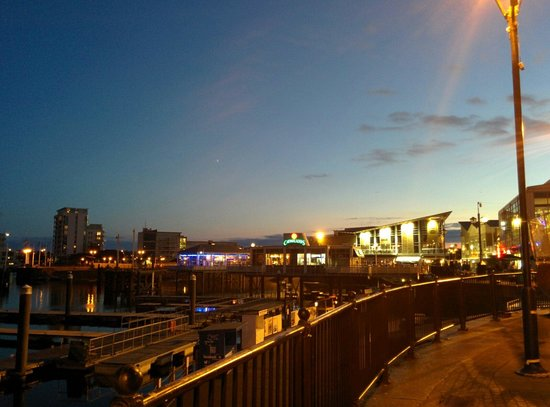 Cardiff bay at sunset