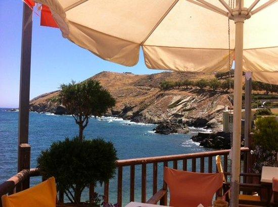 Marelina Villas & Apartments: Panorama da un baretto a pochi metri dall' albergo