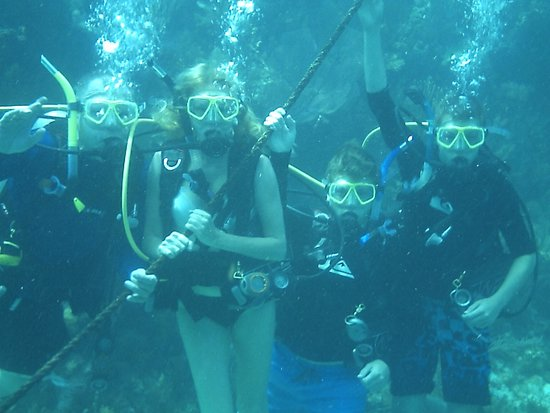 Ocean Divers Bayside : Family photo stop