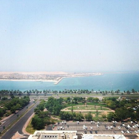 Le Royal Meridien Abu Dhabi: The awesome sea-view from our room.