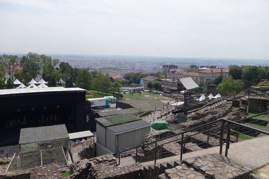 Théâtres Romains de Fourvière : Stage set up on Roman amphitheater