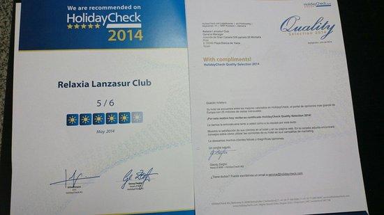 Lanzasur Club: Quality award