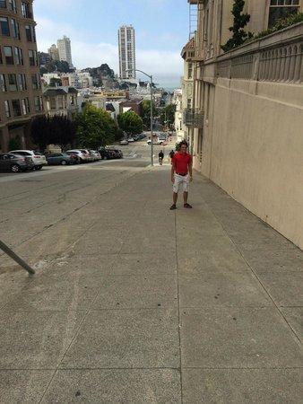 InterContinental Mark Hopkins San Francisco : Very steep streets
