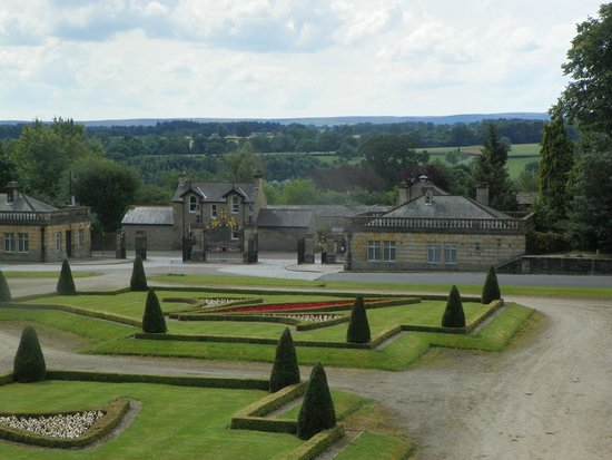 Front garden at the Bowes Museum