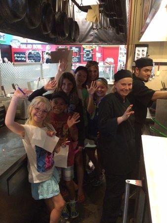 Waldo's on King: New kitchen crew in training :)