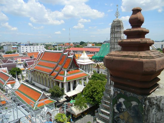 Wat Arun (Tempel der Morgenröte): view from the top