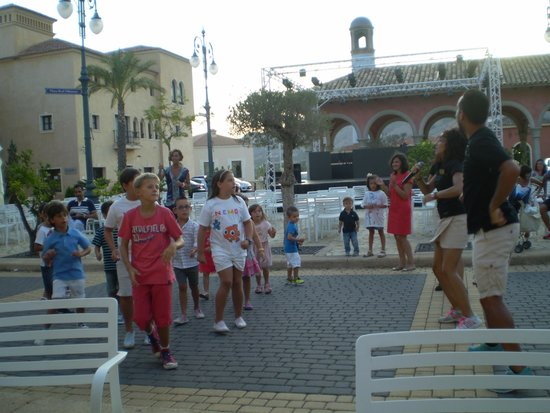 Meliá Villaitana: Childrens Activities at night in the Village square