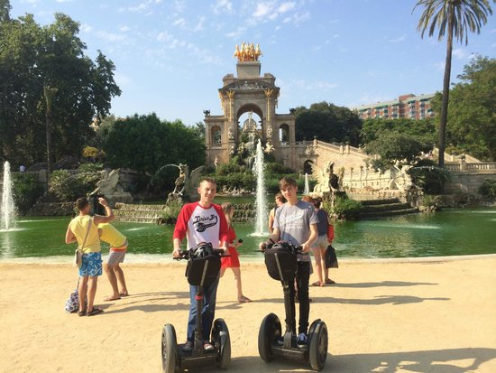 Barcelona Segway Glides: In the park in front of the fountain (taken by Edgar, he's a good photographer as well!)