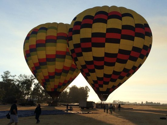 Balloons Above the Valley: The balloon on the left is our's :)