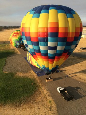 Balloons Above the Valley: And we're off....