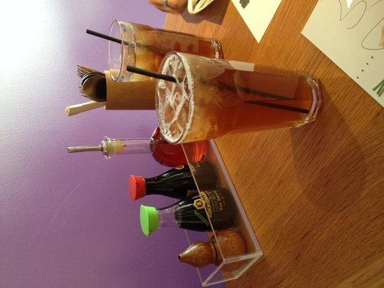 Wagamama - Earls Court : Peach iced tea