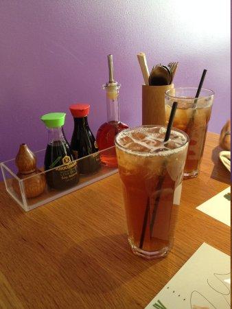 Wagamama: Peach iced tea