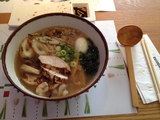 Wagamama - Earls Court : Chicken and seafood noodles
