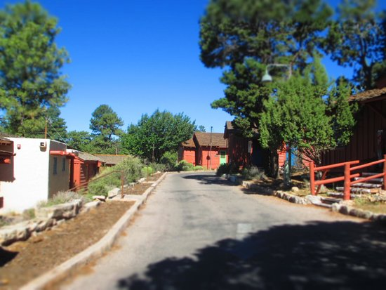 Bright Angel Lodge: Little road to our cabin