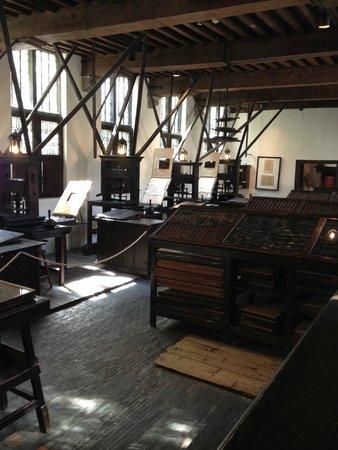 Le musée Plantin-Moretus : l'atelier des presses à imprimer