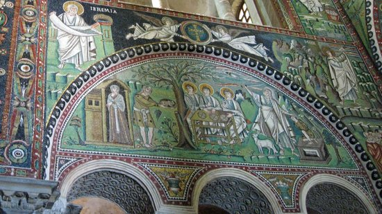 Basilica San Vitale: 2 scenes from the life of Abraham