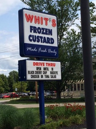 Whit's Frozen Custard: Easy to find
