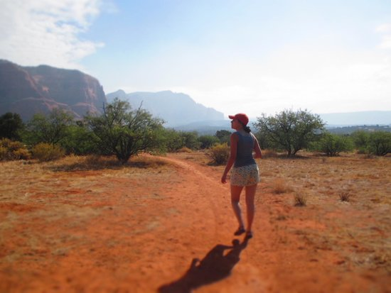Red Agave Resort: Hiking trail right behind Red Agave