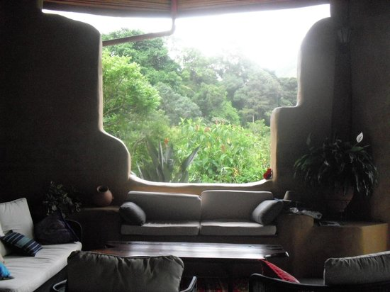Rio Chirripo Lodge & Retreat: view from inside the lodge