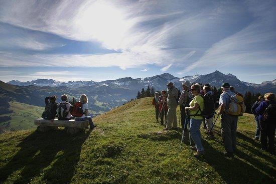 Hotel Bernerhof Gstaad: Begleitete Wanderungen