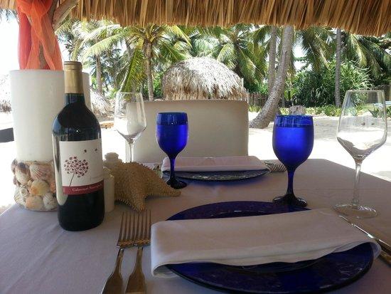 Nuestra mesa en la playa
