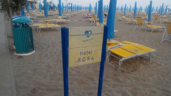 Hotel Rosa: пляж