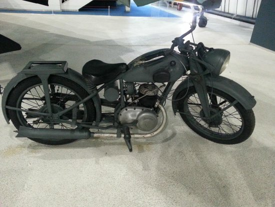 The Royal Air Force Museum London: Motorcycle - glad mine is more comfy!