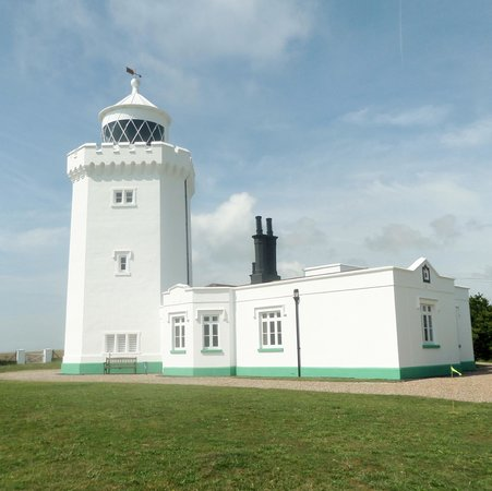 South Foreland Lighthouse: Exterior view in August, 2014