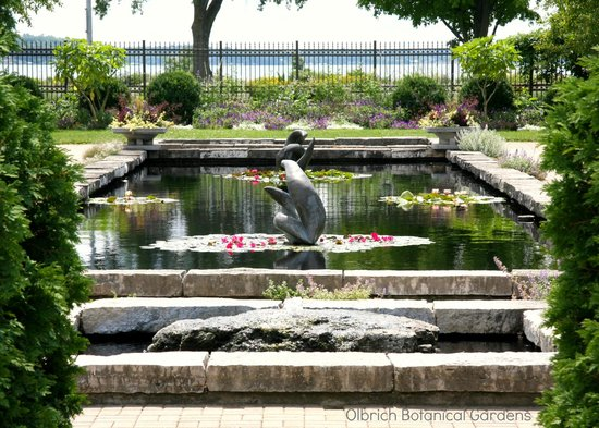 Our Sunken Garden With A View Through To Lake Monona Picture Of Olbrich Botanical Gardens