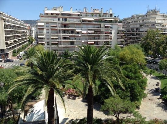 Hotel Aria: Third floor balcony view