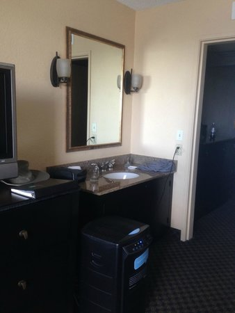 Embassy Suites by Hilton Miami - International Airport: The lovely sink and dehumidifier in our room