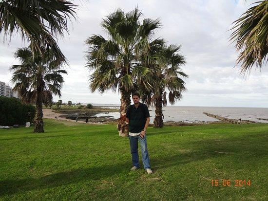 David na Rambla de Montevideo.