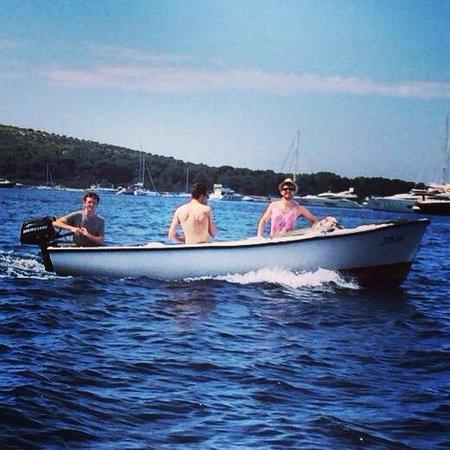 Villa Nina: Out on the boats exploring Islands